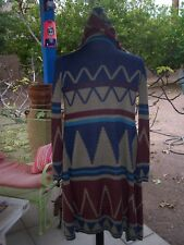 Western Aztec Tribal Cardigan Cover Up Hoodie Sweater Jacket~S/M~Southwestern
