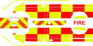 Generic UK Fire Rescue Decal for Herpa Volkswagen Transporter (T6)