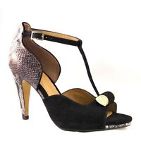 CLARKS Women Saxen Curtain4 Black Combi Snake Leather brand new in box