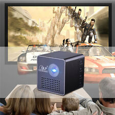 Mini 3D Projector Full HD LED HDMI USB 1080P DLP Android Wifi for Home Theater