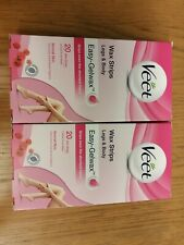 2x Veet Easy Gel Wax Strips For Normal Skin. Shea butter & Berries Brand New -