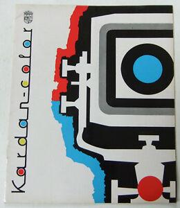 RARE, VINTAGE 1960s LINHOF KARDAN CAMERA PROMOTIONAL BROCHURE / MAGAZINE, GOOD