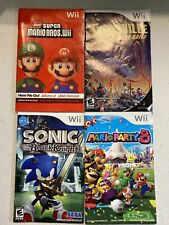 Nintendo Wii Manual 4 Lot New Super Mario Bros Party 8 Sonic Black Knight