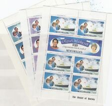 Seychelles 1981 Royal Wedding Minisheets x 3 R1.50, R5, R10 MNH J637