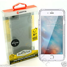 GENUINE GRIFFIN SURVIVOR ULTRA SLIM CLEAR CASE COVER FOR APPLE IPHONE 8 7 6S NEW