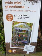 Wide Mini Greenhouse WalkIn 3Tier Plant Shelter wide80x37deepx130cm(C)freeUKpost