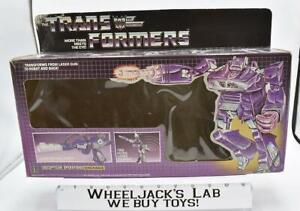 Shockwave Box Only 1985 Action Figure Vintage Hasbro G1 Transformers