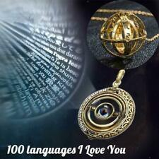 100 Languages Light I Love You Projection Pendant Necklace Valentine's Day Gift