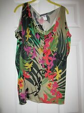 NEW ALBERTA FERRETI FLORAL 100% RAYON WOMEN'S TOP SZ.US 8 IT 44 MADE IN ITALY