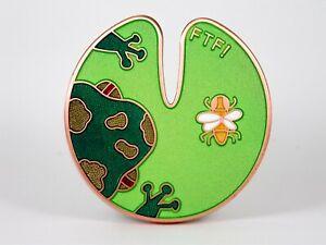 """""""Lilypad Cache Geocoin"""", 2007, Ant Copper, wunderschön, Tsunrisebey, unaktiviert"""