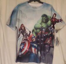 AVENGERS ASSEMBLE T-Shirt Men's Medium Polyester MARVEL New