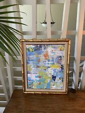 Abstract Modernist Art By Cara Davis – Gorgeous Multicolored Acrylic Framed