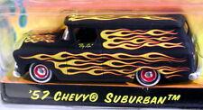 JADA 57 1957 CHEVY SUBURBAN ROAD RATS FLAMED CUSTOM STYLE HOT ROD CHEVROLET CAR