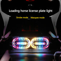 Motorcycle Flashing Anti-Collision LED Stop Brake License Plate Rear Tail Light