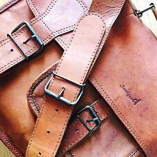 Vintage Leather Bag Writer's Messenger shoulder Bag Top Grain Goat Leather BIG