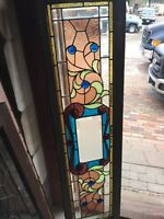 Sg 400 Antique Beveled Glass Jeweled Transom Window