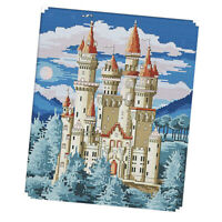 Castles Cross Stitch Stamped Kit Pre-Printed Embroidery DIY Crafts 11CT 14CT