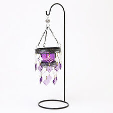 TEA LIGHT HOLDER CANDLE PURPLE MOROCCAN LANTERN XMAS DECORATIVE