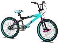 "Kent 20"" Tempest Girl's Bike, Black/Aqua NEW"