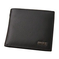 Fashion Genuine Leather Men Wallets Business Men Bifold Wallet Purse with Coin P