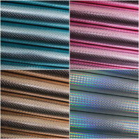 Metallic Mermaid Scales Leatherette Fabric - Faux Leather for Crafts and Bows