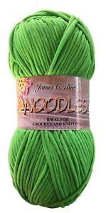 (Clearance) James C Brett Noodles Chunky Yarn Shade N1 Bright Green