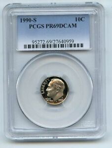 1990 S 10C Roosevelt Dime Proof PCGS PR69DCAM