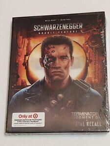 New 2 BluRay! Schwarzenegger Total Recall & Terminator 2 (Limited Steelbook)