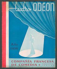 ODEON THEATRE COMPAÑIA FRANCESA DE COMEDIA CORD STUDEBAKER CAR ADVERTISING