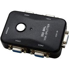 Sabrent VD-VS4P 4-Port VGA Video Splitter Upto 2048x1536 High Resolution 350Mhz