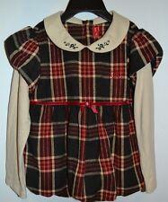Designer Elle Girls Long Sleeve Dress top Size 5