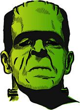 Frankenstein giallo verde green yellow Франкенштейн etichetta sticker 9cm x 13cm