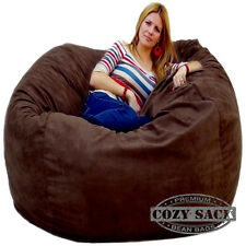 Bean Bag Chairs by Cozy Sack Factory Direct 5' Cozy Foam Filled Microfiber Cover