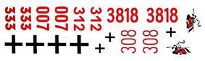 Taigen decal (sticker) set for 1/16 scale Heng Long Tiger 1 tank 1:16