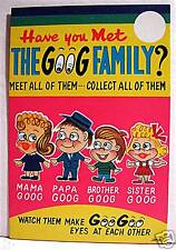 Goog Family Gumball Vending Machine Card Old Stock