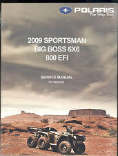 2009  POLARIS BIG BOSS 6X6 800 EFI SERVICE MANUAL / PN 9922030