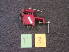 """YOST VISE SHOP BENCH RED  CLAMP TOP OPENS 2 1/2"""" HANDYMAN WOOD TABLE MILITARY"""