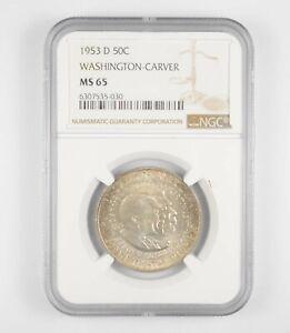 MS65 1953-D Washington-Carver Commemorative Half Dollar - Graded NGC *033