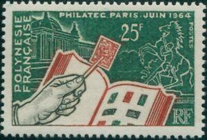 French Polynesia 1964 Sc#207,SG32 25f Stamp Exhibition Paris MNH