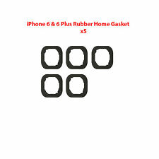 5x Replacement Rubber Gasket Home Button Holder Adhesive iPhone 6 & 6 Plus