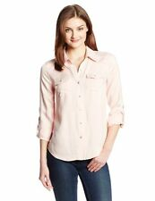 JESSICA SIMPSON ~ Women's Harvest Twill Button-Up Top ~ Desert Flower ~ Small