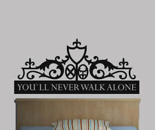 YOU'LL NEVER WALK ALONE LIVERPOOLGATES STICKER WALL ART GRAPHIC VARIOUS COLOUR