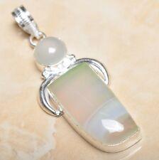 "Handmade Botswana Agate Onyx Jasper 925 Sterling Silver Pendant 2.25"" #P11452"