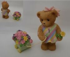 RARE! CHERISHED TEDDIES 2004 FIGURINE, MOLLIE, 4004384, NIB, HTF, WAGON, FLOWERS