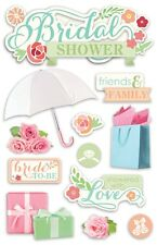 PAPER HOUSE BRIDAL SHOWER WEDDING PARTY DIMENSIONAL 3D SCRAPBOOK STICKERS
