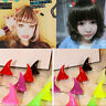 Hot 2x Horror Gothic Cosplay Costume Small Demon OX Horn Halloween Hair Clip wl