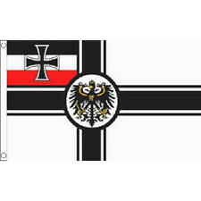 German Imperial (Wwi & Crest) Small Flag 3Ft X 2Ft World War 1 Germany