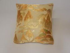 Silk, Rayon and Metal Brocade Accent Pillows