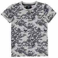 Firetrap Short Sleeve T Shirt Youngster Boys Crew Neck Tee Top Cotton Pattern