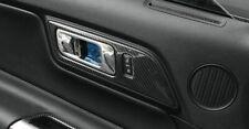 Carbon Fiber Inner Door Handle Panel Trim LHD Refit For Ford Mustang 2015-17